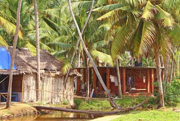 Fishing huts. South India