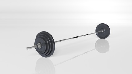 Weights, adjustable weight set, sports equipment isolated on white background