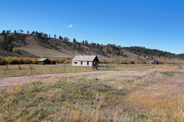Abandoned homes in Colorado rural side