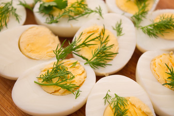boiled eggs with dill