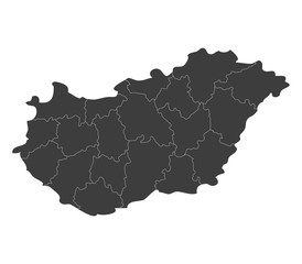 map of hungary with regions