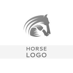 Horse head logo or icon vector design.
