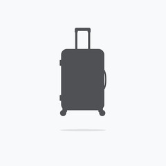 Suitcase. Icon suitcase. Vector illustration.