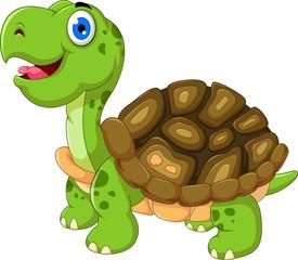 cute cartoon turtle posing