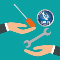 Call center design. customer service icon. Isolated illustration , vector
