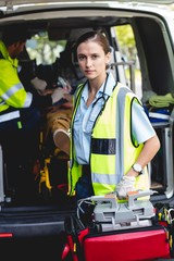 Portrait of ambulance woman