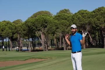 golf player portrait at course