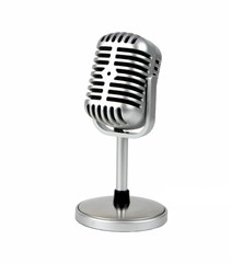 Retro microphone. ( Dynamic microphone ) on white bacground