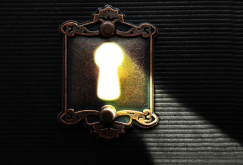 Light through a keyhole