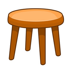 wooden chair isolated illustration