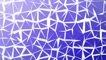 Abstract deep blue gradient lowploly of many triangles background for use in design