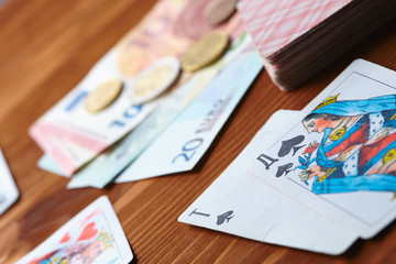 game cards and money