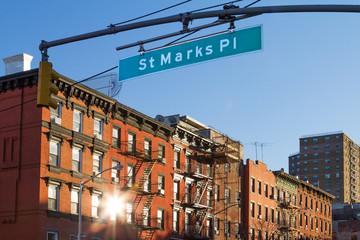 St. Marks Street Scene in Manhattan, New York City