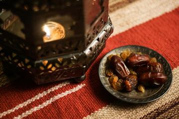 Ramadan traditional islam photo background set.