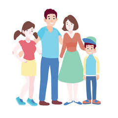 family vector illustration.
