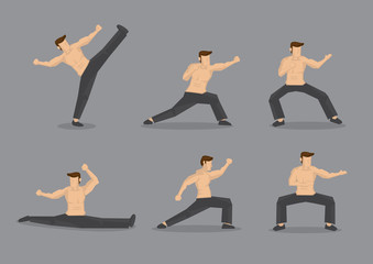 Martial Arts Vector Character Illustration