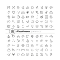Set with icons - abstract symbols