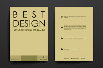 Set of brochure, poster design templates in business style