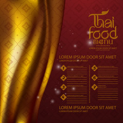 Thai Art Vector food menu templeat
