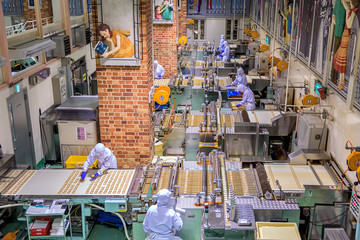 Japan, Sapporo-November 28: Ishiya, chocolate factory on novembe