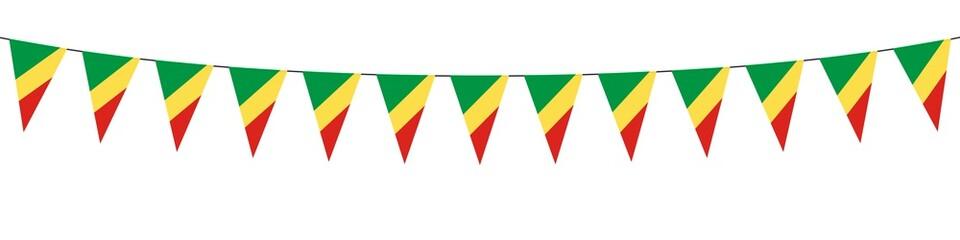 Banner. Ghirlande. Vert, jaune, rouge. Congo