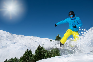 Active man in ski outfit