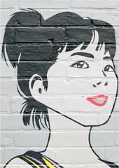 Art urbain, portrait de femme