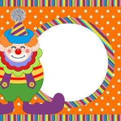 Happy clown frame background