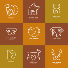 Dog Linear Labels