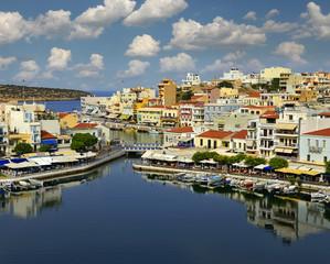 Agios Nikolaos, Crete, Greece. Agios Nikolaos is a picturesque town in the eastern part of the island Crete.