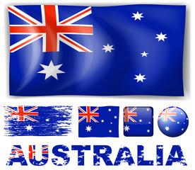 Australia flag in different designs