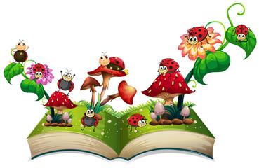 Book of ladybugs and mushroom
