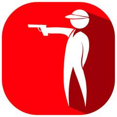 Sport icon design for shooting gun