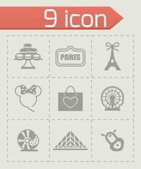 Vector Paris icon set