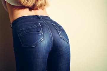 closeup on perfect shape of beautiful glamor woman sexy body hips