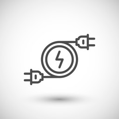 Electricity line icon symbol