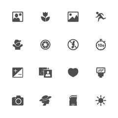 foto flat icon black