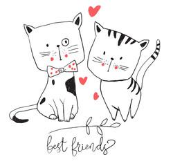 cute cat illustration set 2