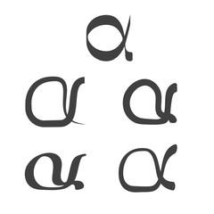 alpha symbol set