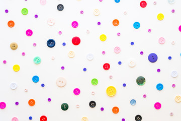 Sewing buttons background. Colorful sewing buttons texture. mult