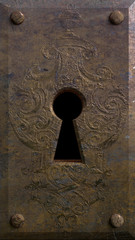 Embossed Metal Keyhole