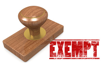 Exempt wooded seal stamp