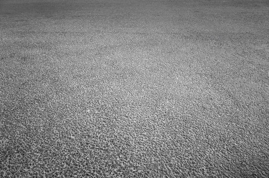 Dark gray asphalt pavement of new highway