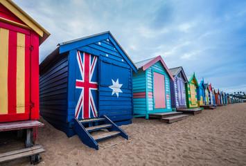 Brighton beach bathing boxes, Melbourne.