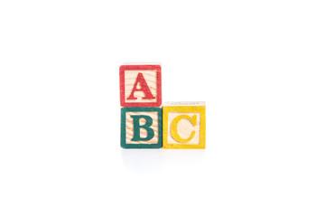photo of a alphabet blocks spelling ABC