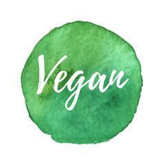 Vector natural organic icon, eco label