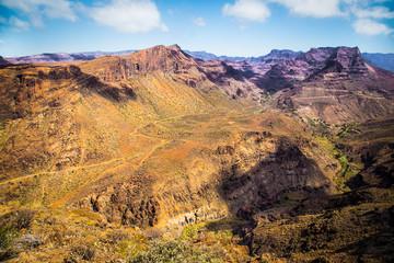 Fataga river canyon on Gran Canaria island, Spain.