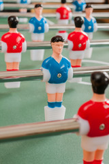 Table football or soccer players