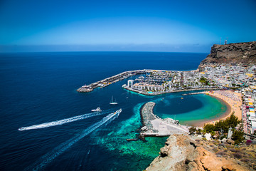 Puerto de Mogan town on the coast of Gran Canaria, Spain.