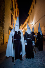 Baeza, Andalusia, province of Jaén, Spain -  olemn Easter Week (Semana Santa) procession, death and resurrection of Christ